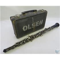 Linton Wood Oboe W/ Plastic Bell & Hard Case NO REED / MOUTHPIECE FOR PARTS