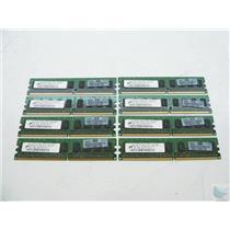 Lot of 8 Micron 1GB 1Rx8 PC2-6400E-666-13-F0 MT9HTF12872AY-800G1 ECC Memory