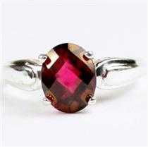 SR058, Crimson Fire Topaz, 925 Sterling Silver Ladies Ring