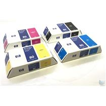 New OEM Set of 4 HP DesignJet 80 ink cartridge c4847a c4871a c4848a c4846a
