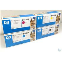Lot of 4 HP Toner Cartridge Q2670A Q2681A Q2683A Q2682A CMYK for 3700