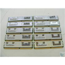 Lot of 10 Samsung 1GB PC2-5300F-555-11-B0 M395T2953EZ4-CE65 ECC Memory Sticks