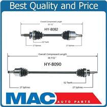 (2) 100% New CV Axle Half Shaft D & P For 01-04 Santa Fe 2.4L FWD Auto Trans