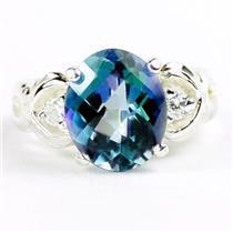 SR243, Neptune Garden Topaz, 925 Sterling Silver Ring