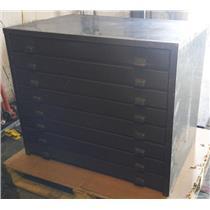 Generic Steel Eight Drawer Blueprint Filing Cabinet 27 1/2'' x 40''