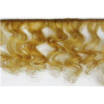 "mohair weft coarse unglazed Gold 27 curly hair 4-7""x 50""  25624  QP"