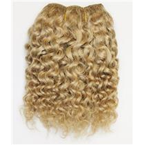 "Blonde 20 Curly  mohair weft coarse 6- 8"" x 50"" QP  26389"