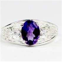 SR306, Amethyst, 925 925 Sterling Silver Ladies Ring