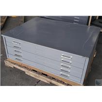 Mayline Five Drawer Blueprint Filing Cabinet 35 1/2'' x 47''