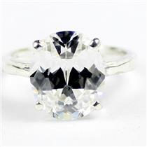 SR055, Silver Topaz, 925 Sterling Silver Ladies Ring