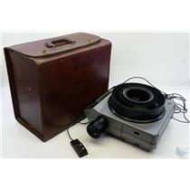 Kodak Ektagraphic III AMT Slide Projector w/ Remote Slide Tray & Case