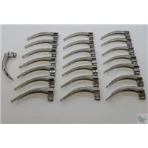 Lot of 22 Fiberlight Laryngoscope Blades MAC4 - TESTED WORKING