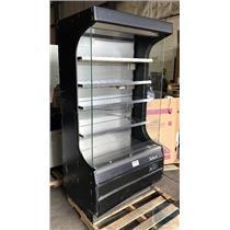 "Turbo Air TOM-40B Black 39"" Air Curtain Merchandiser Refrigerated 14.7 Cu. Ft."