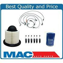 01-08 F150 4.2L V6 Spark Plug Wire Set Spark Plugs Air Filter Oil Filter 9Pc Kit