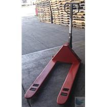 Dayton Red Model 4YX97 Hydraulic 5500lbs Capacity Hand Pallet Jack - Bare Wheels