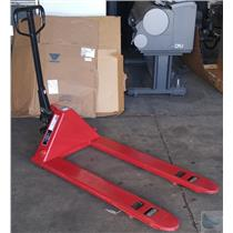 Dayton Red Model 4YX97 Hydraulic 5500lbs Capacity Hand Pallet Jack - No Rubber