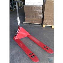Dayton Red Model 4YX97 Hydraulic 5500lbs Capacity Pallet Jack - Melted Rubber