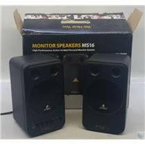 Behringer MS16 PersonalStudio Desktop Active Monitor Speakers 16 Watt