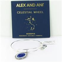 Alex and Ani Scorpio Celestial Wheel Silver Bangle Bracelet A15EB67SS NWT Box