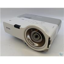 Epson Powerlite 410W 3LCD Short Throw Projector VGA RCA S-Video 2595 Lamp Hours