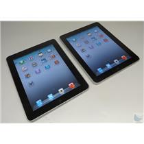 Lot Of 2 Apple iPad 1st Gen A1219 Tablets 16GB & 32GB  iOS 5.1.1 Wi-Fi Only