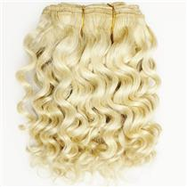 "Blonde 613 wavy mohair weft coarse  6-8"" x200""  26435  FP"