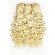 "Blonde 613 curly mohair weft coarse  7-8"" x200""  26441  FP"
