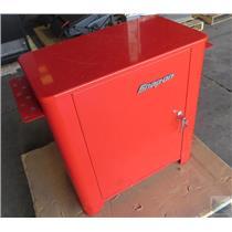 "Snap-On Single Door Locking Metal Cabinet Exterior Dims 31.5""L x 18""D x 33.5""H"