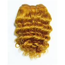 "Carrot 144  wavy mohair weft coarse 7- 8"" x 50"" QP  26437"
