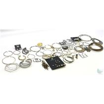 Lot Of 50+ Mixed Earrings, Singles and Pairs - Gold-Tone & Silver-Tone