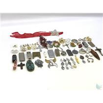 Lot of Misc. Costume Jewelry & Accessories Cufflinks Money Clips Pendants Etc.