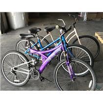 Lot of 3 Cruiser Bicycles Men/ Women's Bicycle Fuji Road Master Vista
