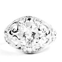Silver Topaz, 925 Sterling Silver Ladies Ring, SR111
