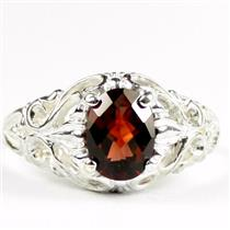 Mozambique Garnet, 925 Sterling Silver Ladies Ring, SR113