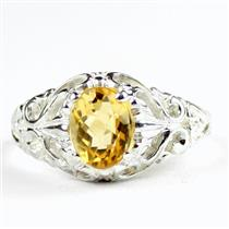 Citrine, 925 Sterling Silver Ladies Ring, SR113