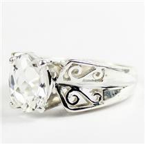 Silver Topaz, 925 Sterling Silver Ladies Ring, SR281