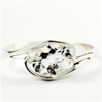 Silver Topaz, 925 Sterling Silver Ring, SR186