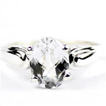 Silver Topaz,  925 Sterling Silver Ladies Ring,  SR058
