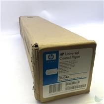 """HP Q1404A Large Format 4.9 mil 24"""" x '50' White Coated Paper"""