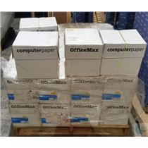 Lot of 28 Boxes of Genuine OEM OfficeMax Plain-White Computer Paper 4800 Per Box