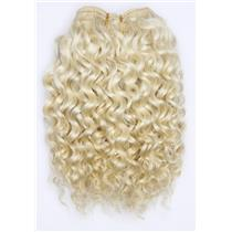 """undyed color 60 Curly  mohair weft coarse 7- 8"""" x 50"""" 26518 QP"""