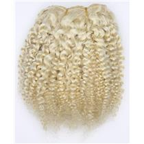 "undyed color 60 bebe curl - tight curl  mohair weft coarse 7- 8"" x 50"" 26515 QP"