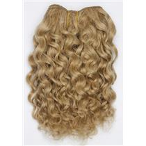 "Blonde 14 Curly mohair weft coarse  7-8"" x200""  26522  FP"
