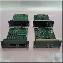 Lot of 4 Sanewave Expansion Boards of Assorted Types from a Mackie Digital X-Bus