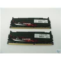 Lot of 2 G.Skill Sniper 8GB PC3-14900 DDR3 F3-1866C10D-16GSR Memory Sticks