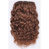 "Light auburn # 10 Curly mohair weft coarse 7- 8"" x 50""  26551 QP"