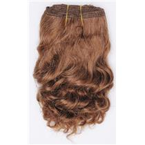 "Light auburn # 10  wavy mohair weft coarse 7-8"" x100"" 26541 HP"