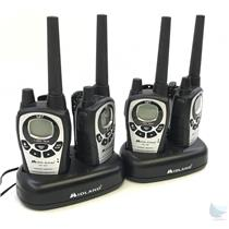 Lot of 4 Midland GXT760 Handheld 42 Ch GMRS Radio TESTED & WORKING