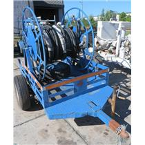 """Purpose Built Homemade 50"""" Industrial Cable Spool Trailer with Leaf Springs"""