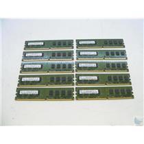 Lot of 10 Samsung 2GB 2Rx8 PC2-6400U-666-12-E3 M378T5663EH3-CF7 Memory Sticks